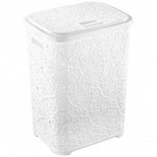 Корзина для белья Ажурная 67 литров Elif Белая