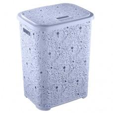 Корзина для белья Ажурная 67 литров Elif Голубой