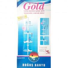 Полка для ванной угловая PRIMA GOLDпластиковая