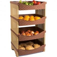 Этажерка 4-х секционная для овощей и фруктов Tuffex