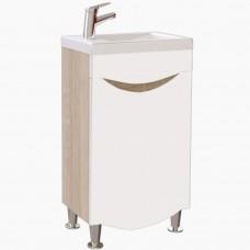 Тумба в ванную Т-1 Мишель NEW сонома_1 дверь (под умывальник от 40-50 см)