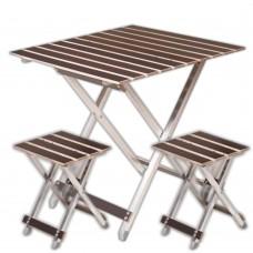 Комплект ALUWOOD Большой_(Стол + 2 стула)