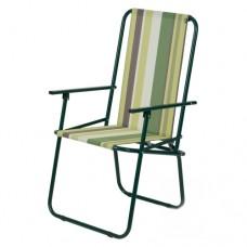 Раскладной стул ДАЧНЫЙ_Зеленая полоса