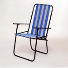 Раскладной стул ДАЧНЫЙ_Желто-голубая полоса