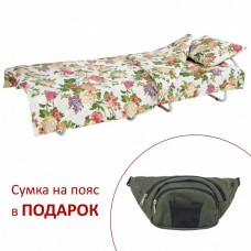 Раскладная кровать с постелью_ЦВЕТЫ ПОЛЕВЫЕ