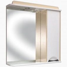 Зеркало для ванной с подсветкой_З-1 Карина венге светлый (40-105 см)