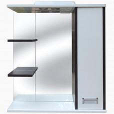 Зеркало для ванной с подсветкой_З-2 Ирида венге (70-105 см)