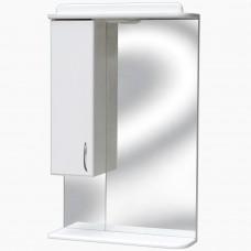 Зеркало для ванной с подсветкой_З-3 с полкой (60 см) Левый