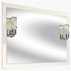 Зеркало для ванной со светильниками из МДФ_З-19 (60-105 см)