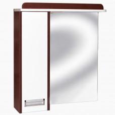 Зеркало для ванной с подсветкой З-1 Ирида венге без нижней полки (75 см) Левый