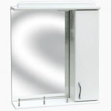 Зеркало для ванной с подсветкой _З-1 Прямое с ограждением (45 см) Прав