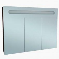 Зеркало для ванной с подсветкой_З-21 Бьянка венге 3 двери (75-105 см)